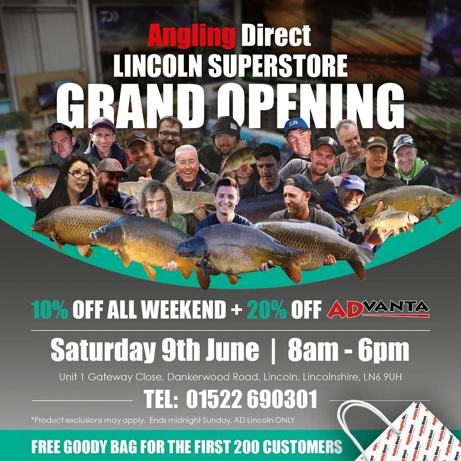 Angling Direct Lincoln Grand Opening - Saturday 9th June 2018