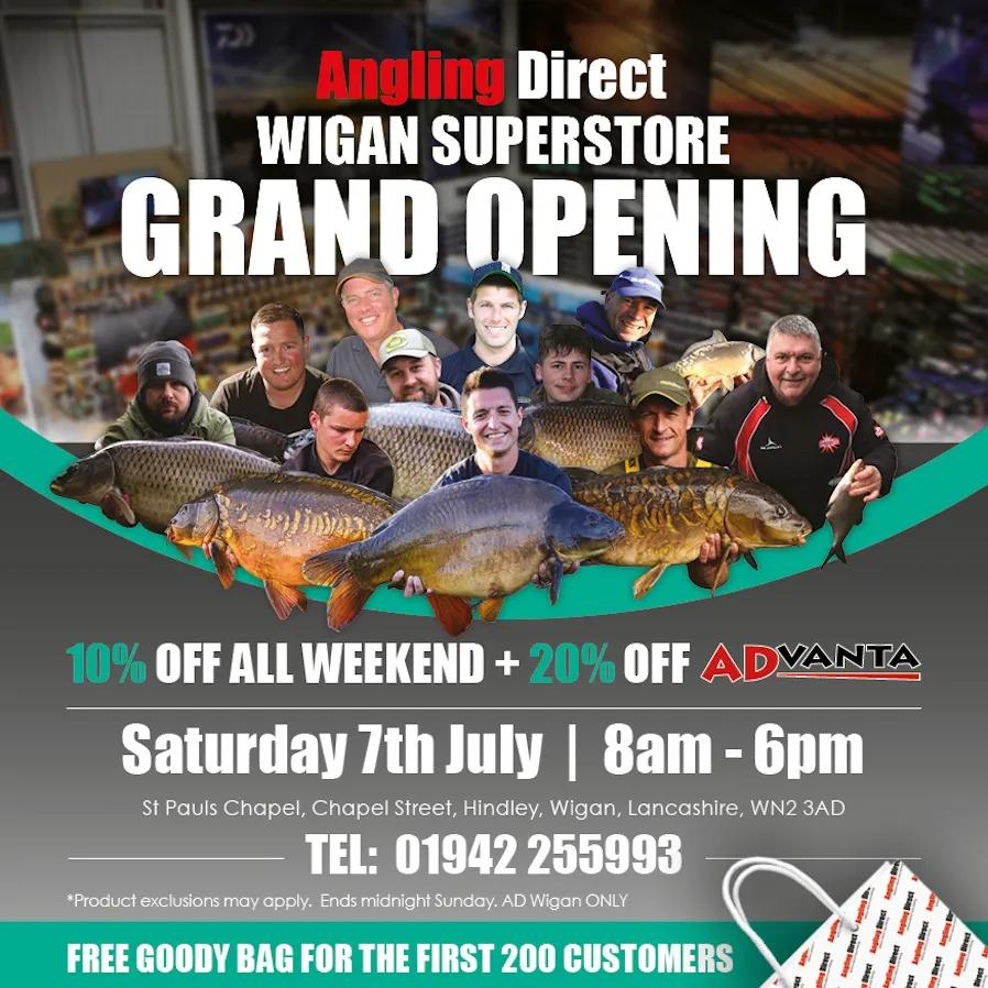 Angling Direct Wigan - Grand Opening Saturday 7th July 2018