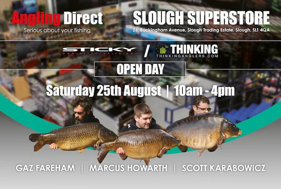 Angling Direct Slough: Sticky Baits & Thinking Anglers Open Day Saturday August 25th 2018