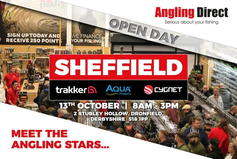 Angling Direct Sheffield- Trakker, Aqua, Cygnet Open Day