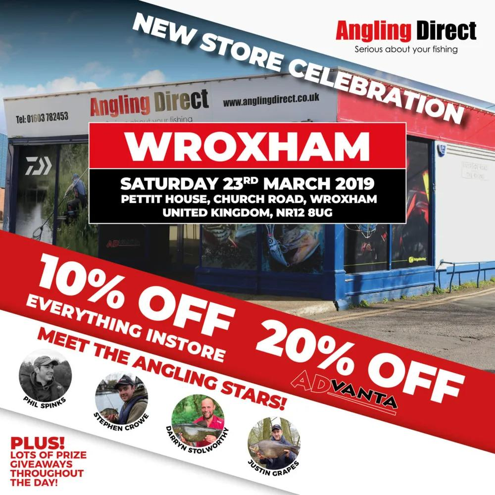 Angling Direct Wroxham New Store Celebration- 23rd March 2019