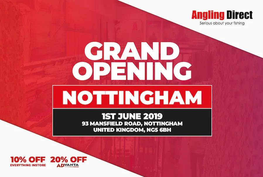 Angling Direct Nottingham Grand Opening - Saturday 1st June 2019