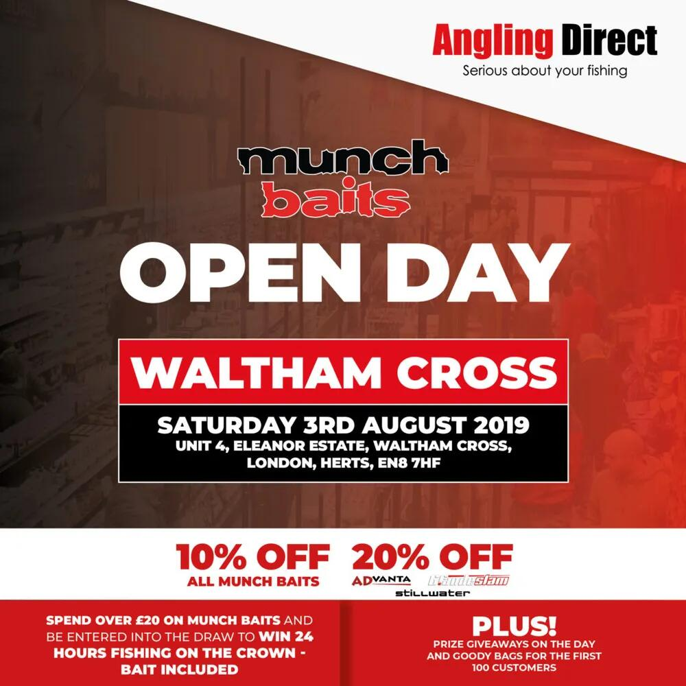 Angling Direct Waltham Cross- Munch Baits Open Day