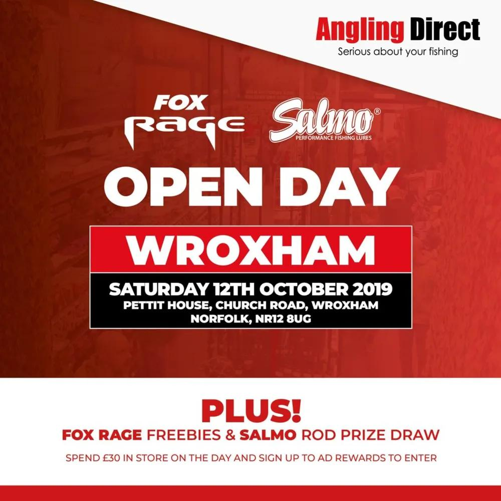 Angling Direct Wroxham Fox Rage and Salmo Open Day