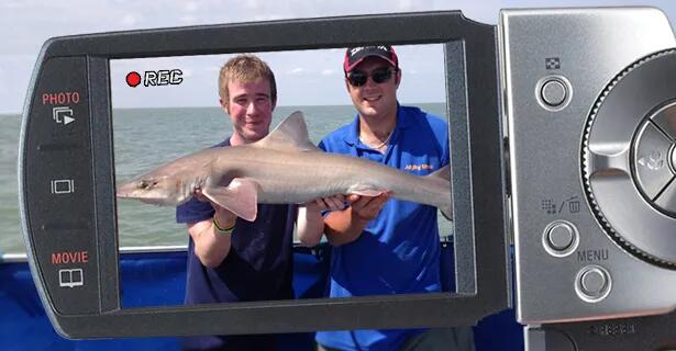 Boat Fishing For Big Smooth Hounds