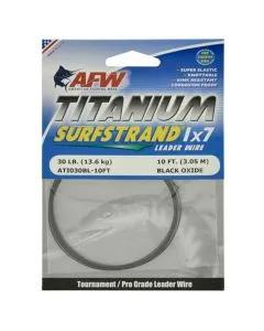 AFW Titanium Surfstrand Bare 1x7 Leader Wire