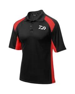 Daiwa Black & Red Polo Shirt