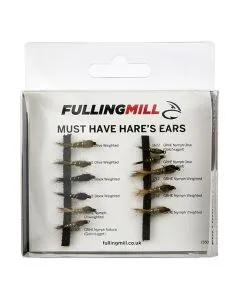 Fulling Mill Must Have Hares Ears 11 Flies