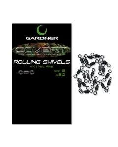 Gardner Covert Mini Rig Swivels Anti Glare