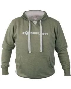 Korum Heather Green Marl Hoodie