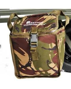 Prestige Carp Porter DPM Bait Pals in Camo, packed and mounted