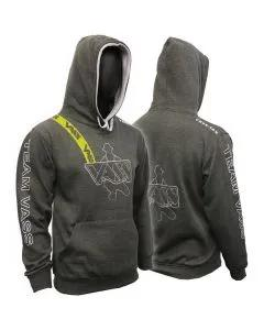 Vass Charcoal/Grey Hoody with Yellow Printed Strap