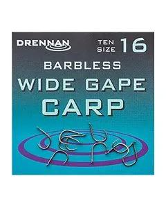 Drennan Barbless Wide Gape Carp Hooks