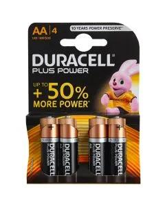Duracell Power Plus Batteries AA 4 Pack