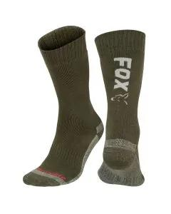 Fox Collection Green / Silver Thermolite Long Sock