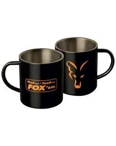 Fox Stainless Steel Mug front & back