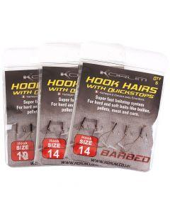 Korum Barbed Hook Hairs with Quickstops