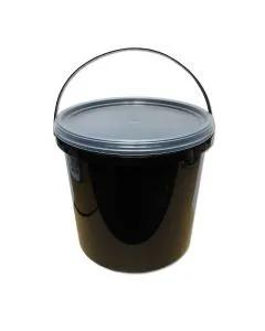 Lemco 5L Black Bucket with Translucent Lid