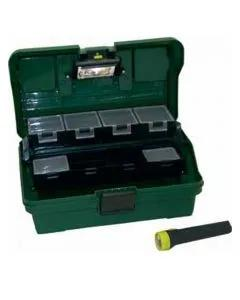 "Lemco 13"" Fishing Box With Built In Light & Hand Torch"