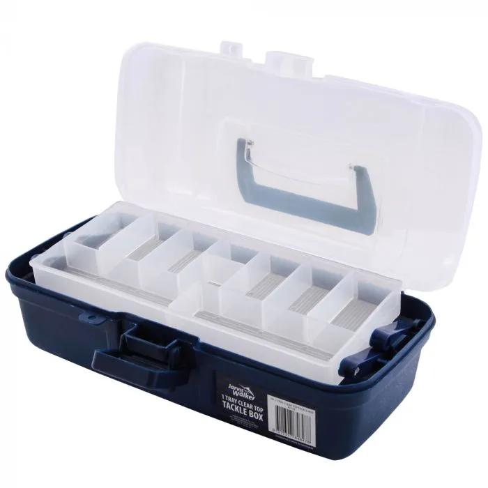 Jarvis Walker Clear Top Tackle Box 1 Tray