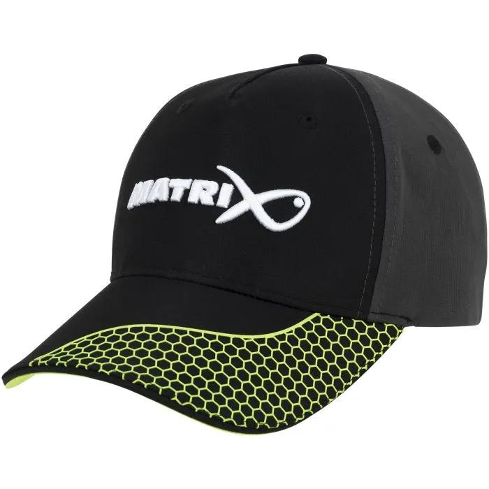 Matrix Baseball Cap Grey / Lime front and right side