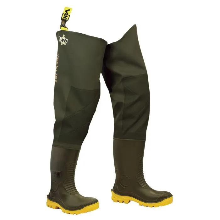 Vass 740 SuperNova Studded Heavy Duty PVC Thigh Wader with Knee-reinforcement