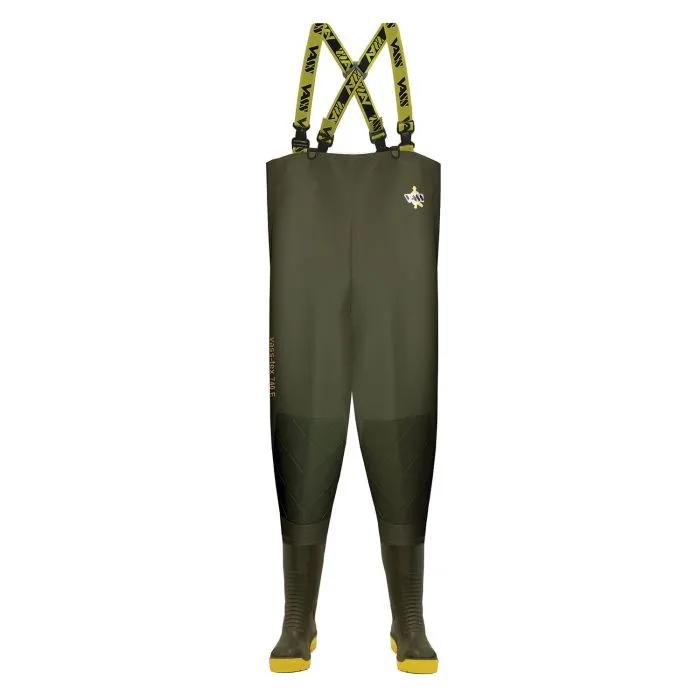Vass 740E SuperNova Mega-Studded Heavy Duty PVC Chest Wader with Knee-reinforcement