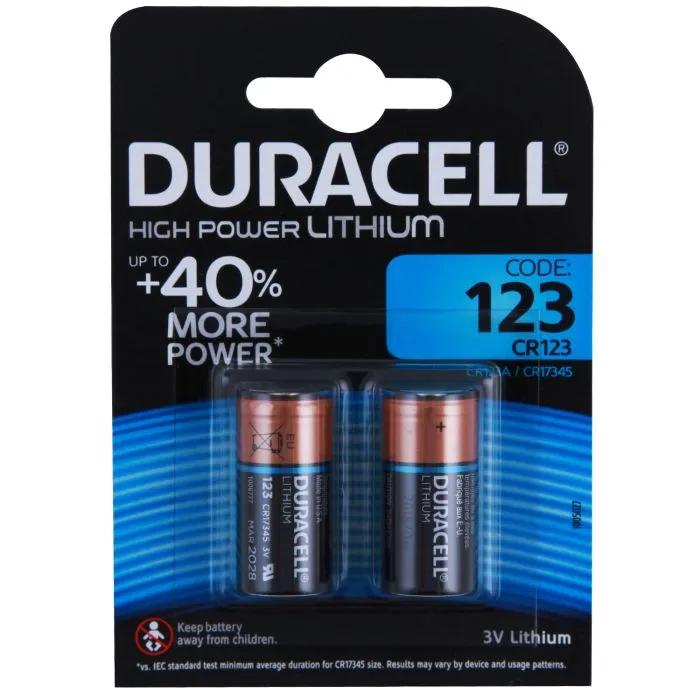 Duracell Lithium Ultra Batteries CR123 Twin Pack