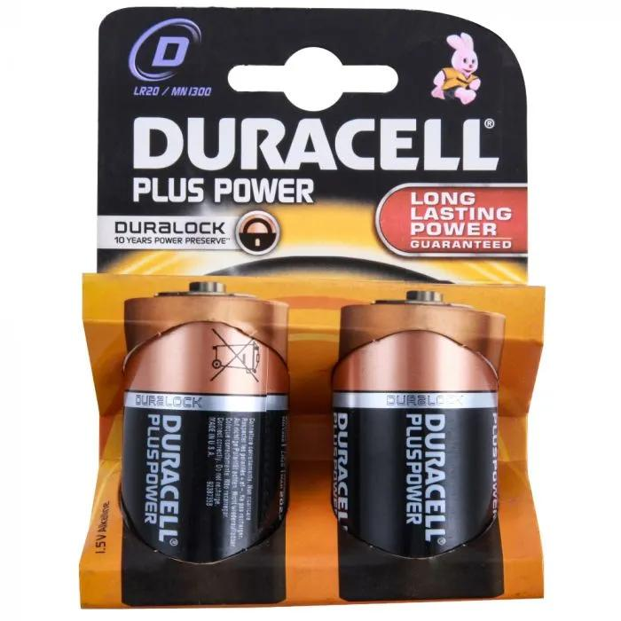 Duracell Plus D Battery Pack of 2