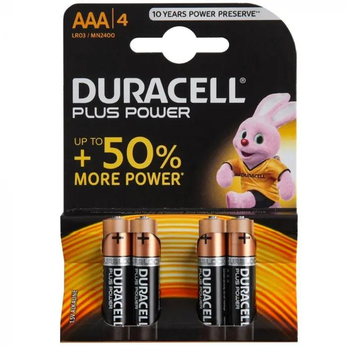Duracell Power Plus Batteries AAA 4 Pack