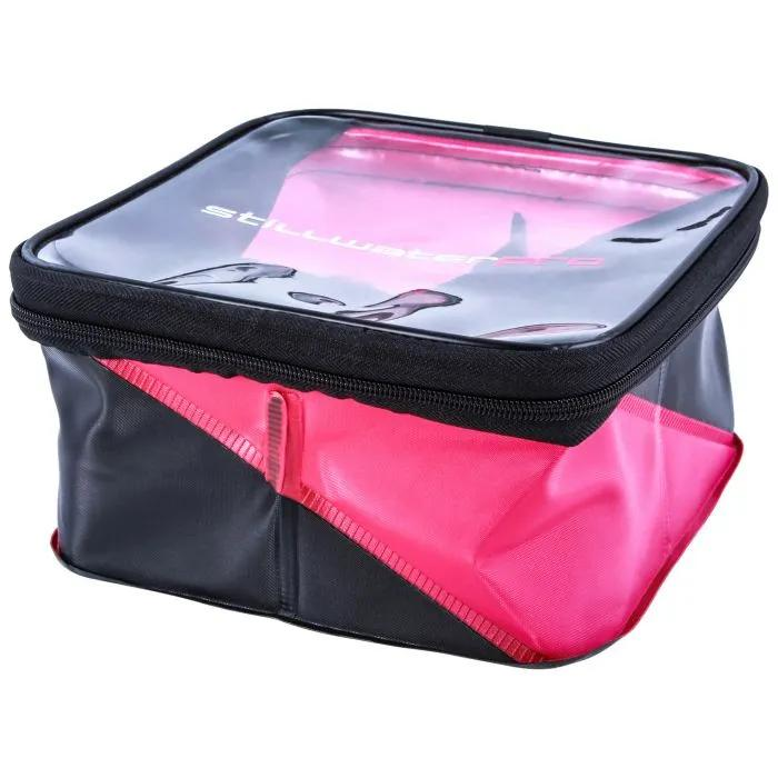 stillwater square partitioned bait bag with clear zipped lid